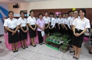 นักศึกษา ชั้นปีที่ 1 รุ่นที่ 61 จัดนิทรรศการผักปลอดสารพิษ