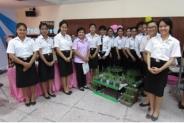 นิทรรศการโครงการผักปลอดสารพิษ โดยนักศึกษาพยาบาลศาสตร์รุ่นที่ 61
